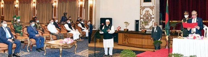 ধর্ম বিষয়ক প্রতিমন্ত্রী হিসাবে অভিষেক হলো সাংসদ ফরিদুল হক খানের